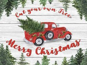 Vintage Red Truck Christmas-B by Jean Plout