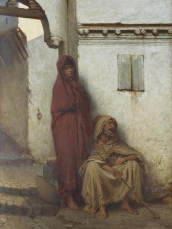 Arab Mendicants by Jean Raymond Hippolyte Lazerges