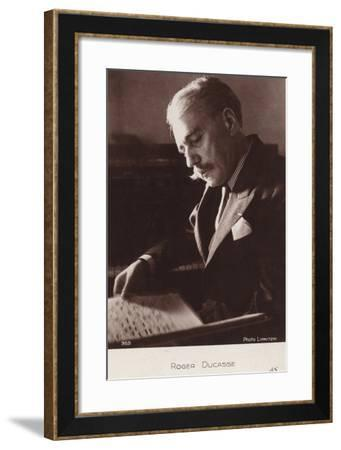 Jean Roger Ducasse, French Composer--Framed Photographic Print