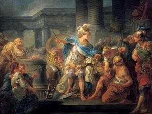 Alexander Cuts the Gordian Knot, Late 18th/Early 19th Century by Jean Simon Berthelemy
