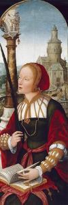 Saint Barbara, C.1520 by Jean The Elder Bellegambe