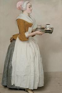 The Chocolate Girl (La Belle Chocolatière De Vienn), C. 1745 by Jean-?tienne Liotard
