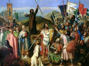 The Barefoot Procession of Crusaders around the City Walls of Jerusalem, July 14, 1099 by Jean-Victor Schnetz