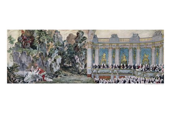 Jeanne Antoinette Poisson, Marquise de Pompadour and the Vicomte de Rohan, 1749-Charles-Nicolas Cochin II-Giclee Print