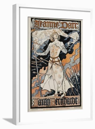 Jeanne D'Arc - Sarah Bernhardt Theater Poster-Eugene Grasset-Framed Giclee Print