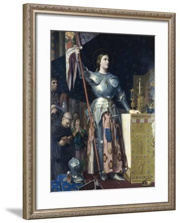 Jeanne d'Arc-Jean-Auguste-Dominique Ingres-Framed Giclee Print