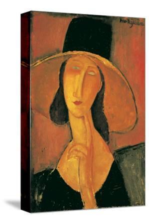 Jeanne Hebuterne-Amedeo Modigliani-Stretched Canvas Print