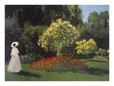 Jeanne-Marguerite Lecadre in the Garden-Claude Monet-Premium Giclee Print