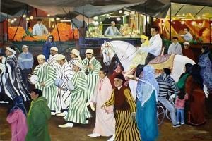 Evening Pocession, Marrakech by Jeanne Maze