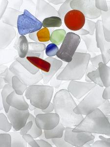 An array of colored sea glass by Jeanne Modderman