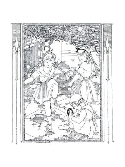 Jeanne's Wash Day - Child Life-Mary M. Sullivan-Giclee Print