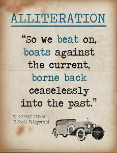 Alliteration (Quote from The Great Gatsby by F. Scott Fitzgerald) by Jeanne Stevenson
