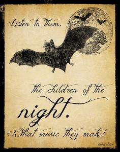 Children of the Night - Dracula. Vintage Style Classroom Poster by Jeanne Stevenson