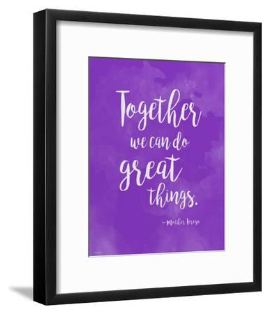 Great Things - Mother Teresa Diversity Quote Poster