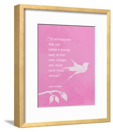 Jane Austen - Inspirational Quote Poster
