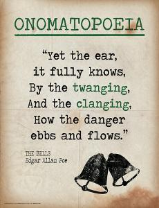 Onomatopoeia (Quote from The Bells by Edgar Allan Poe) by Jeanne Stevenson