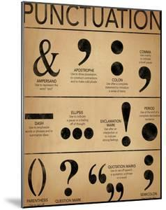 Punctuation - Grammar and Writing Poster by Jeanne Stevenson