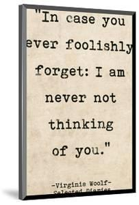 Romantic Quote Poster - Selected Diaries by Virginia Woolf by Jeanne Stevenson