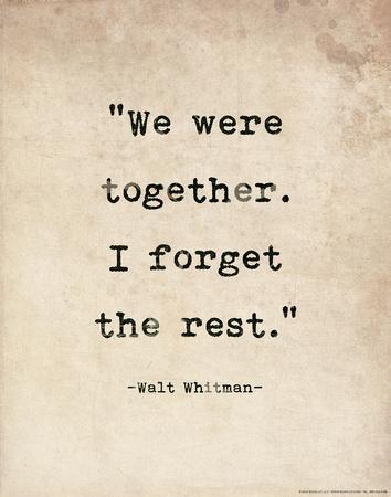 Romantic Quote Poster - Walt Whitman