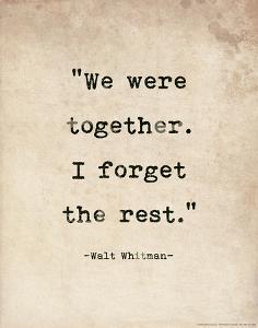 Romantic Quote Poster - Walt Whitman by Jeanne Stevenson