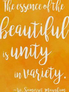 Unity in Diversity - W. Somerset Maugham Diversity Quote Poster by Jeanne Stevenson