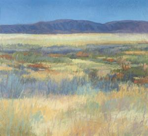 Summer Fields with Mountains by Jeannie Sellmer