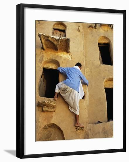 Jebel Abiadh, This Restored Fortified Granary Is Amongst Tunisia's Finest Examples of This Type of -Amar Grover-Framed Photographic Print