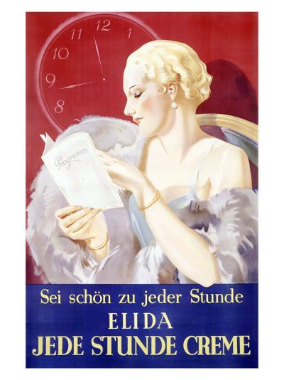 Jede Stunde Cosmetic Facial Creme--Giclee Print