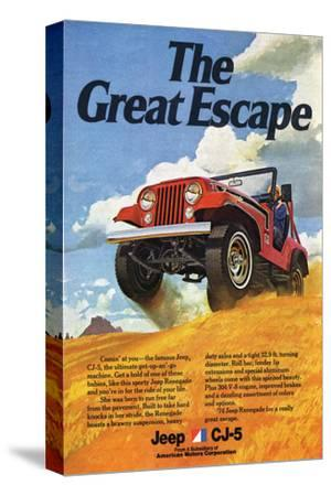 red Details about  /Willys Overland Jeepster canvas art print by Richard Browne Jeep
