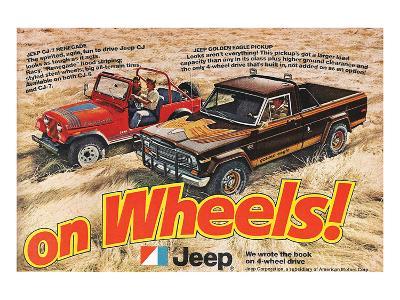 Jeep Renegade Pickup-On Wheels--Art Print