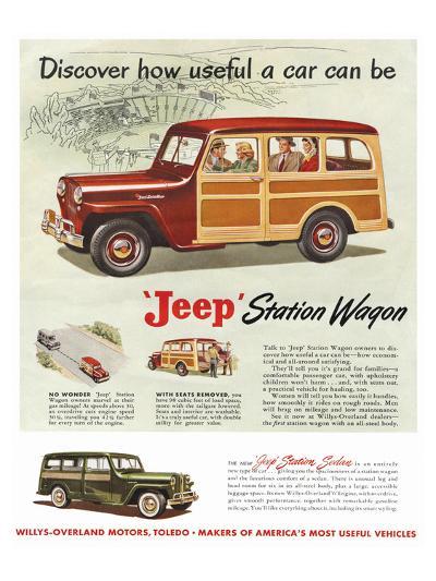 Jeep Station Wagon - Discover--Art Print