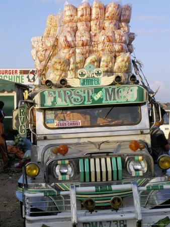 Jeepney, Port of Lucena, Southern Area, Island of Luzon, Philippines, Southeast Asia-Bruno Barbier-Photographic Print