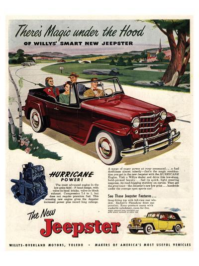 Jeepster Magic Under the Hood--Art Print