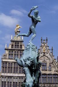 Silvius Brabo Fountain, 1887 by Jef Lambeaux