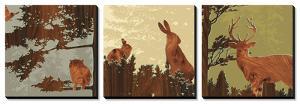Bird, Bunny, Deer I by jefdesigns