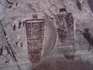 Detail of Native American Rock Art by Jeff Foott