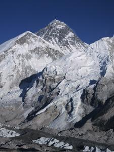 View of Mount Everest and Khumbu Glacier Covered in Snow by Jeff Foott