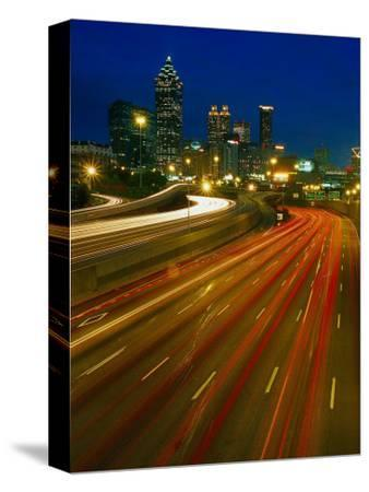 Downtown at Dusk with Traffic, Atlanta, GA