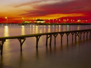 Sunset Over Mobile Bay, Fairhope, Al by Jeff Greenberg