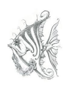 Aquatic Fish 2 Pencil by Jeff Haynie