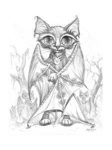 Bat Cat Commander Pencil by Jeff Haynie