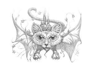 Bat Cat Mask Pencil by Jeff Haynie