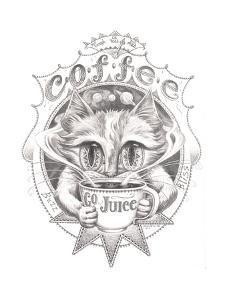 Coffee Cat Buzz Pencil by Jeff Haynie