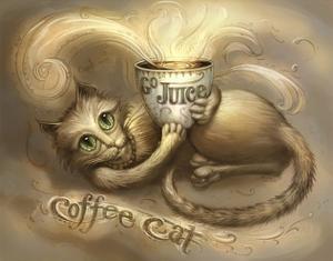 Coffee Cat Go Juice 2 by Jeff Haynie