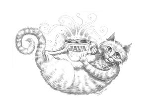 Coffee Cat Java Pencil by Jeff Haynie
