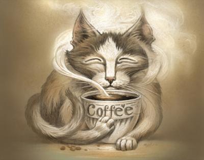Coffee Cat by Jeff Haynie