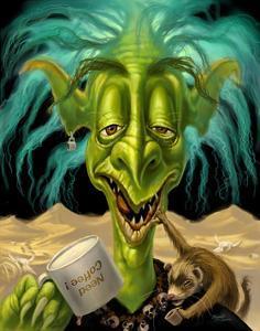 Fantasy Troll Not Enough Coffee by Jeff Haynie