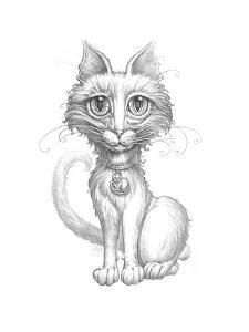 Scruffy Cat_Pencil by Jeff Haynie