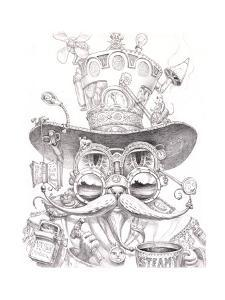 Steampunk Cat 2 pencil by Jeff Haynie