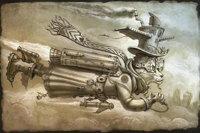 Steampunk Cat Rocketeer